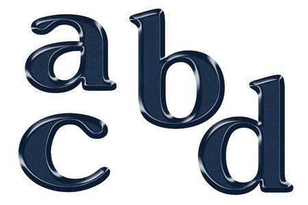 abcd: vector abcd blue jeans texture Stock Photo