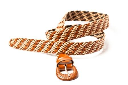 waistband: fashion belt on white background