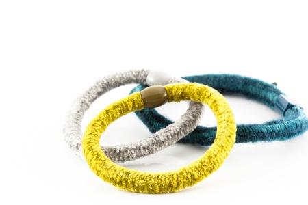 elastic band isolated on white background photo