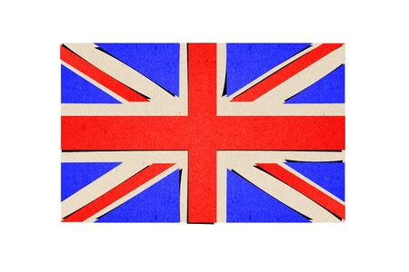 flag of England make from paper Stock Photo - 13699204