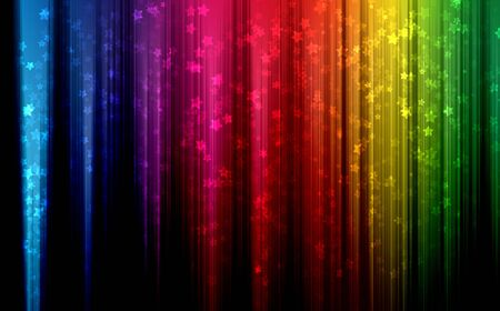 colorful Waves abstract background on dark Stock Photo - 13735649