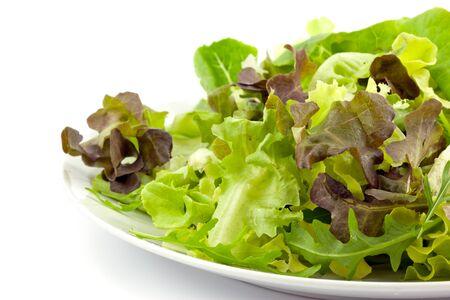 mixed fresh salad on white background Stock Photo - 15727846