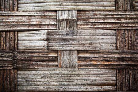 close up old bamboo texture photo