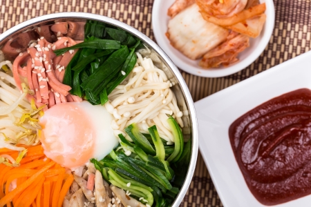 bibimbap, The introduction of various kinds of vegetables mixed with spicy sauce