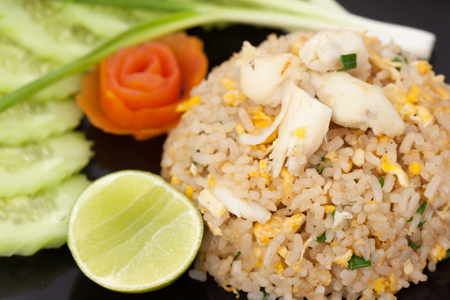 Thai cuisine ,fried rice with crab photo