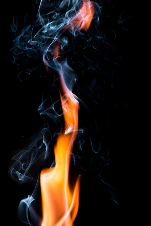 brain mysteries: fire flame on dark background