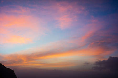 Colorful Striking Red Pink and Orange Sunset