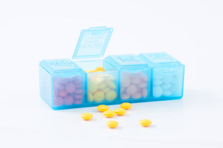 pill box: pill box Stock Photo