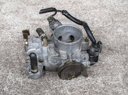 carburetor: Old carburetor for motorcycle (single cylinder engine)