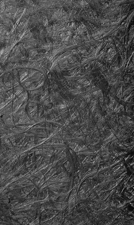 Texture of old and dirty fiberglass from vehicle body aero part use as background, black and white effect Stock Photo