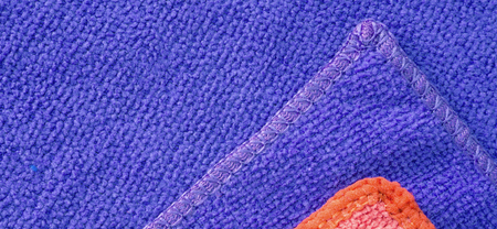 microfiber: Blue and red microfiber cleaning cloth surface texture background