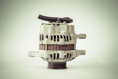 alternateur: Old alternator for the car with color filter effect Banque d'images