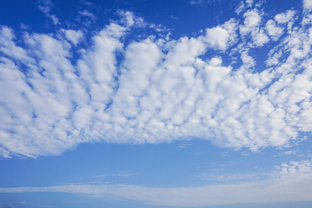 Bright blue sky with white cloud background Stock Photo