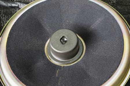Part of black old car audio speaker