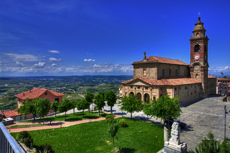 A view of Diano d'Alba from his famous belvedere, in the Langhe, Piedmont. Editorial