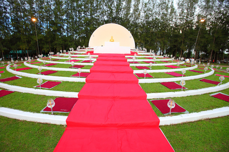 dhamma: Sitting Buddha Dhamma preaching meeting in thailand