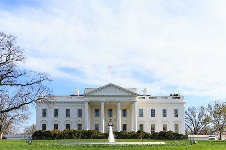 washington landscape: The White House - Washington DC, United States Stock Photo