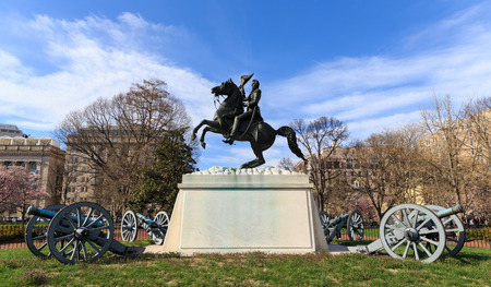 Andrew Jackson Statue Cannons President