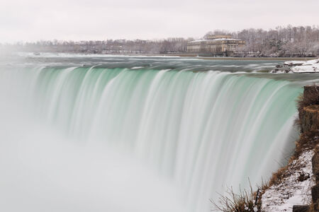 Mist at the Horseshoe Falls, Niagara Winter scene photo