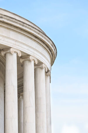 Ionic Columns at Jefferson Memorial in Washington DC photo