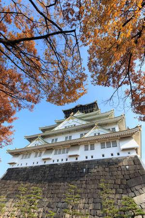 donjon: Osaka Castle in auturm season, Osaka, Japan