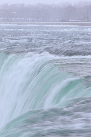 Close up of the Horseshoe Falls in the Niagara Falls at the Canadian side photo
