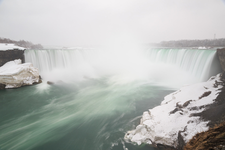 Niagara Falls in the winter Long exposure shot  photo