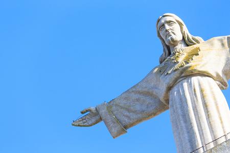 rei: Cristo Rei, the statue of Jesus, in Almada; Across the river from Lisbon, Portugal Stock Photo