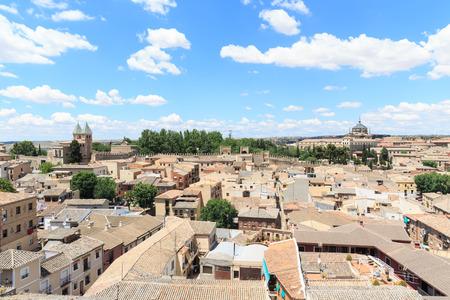 toledo town: Toledo old town Cityscape in Spain.