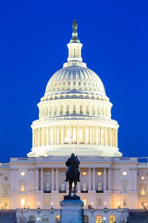US Capitol Building at dusk, Washington DC, USA Stock Photo