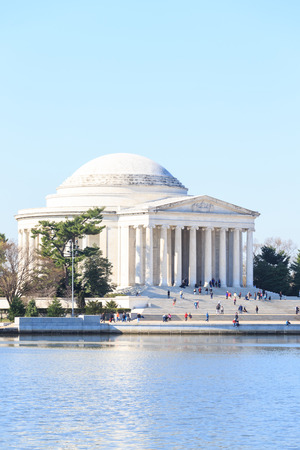 spring tide: Thomas Jefferson Memorial during Cherry Blossom Festival in spring - United States