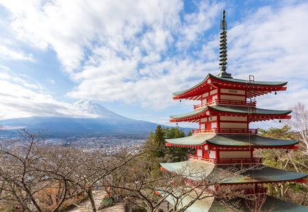 Fuji with Chureito Pagoda in japan.