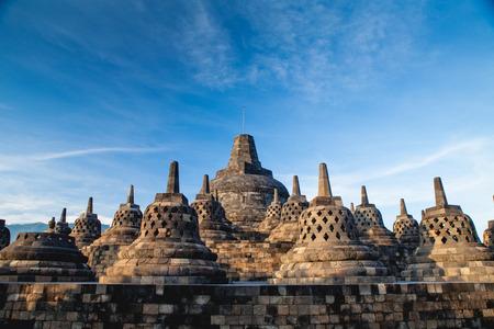 Top Borobudur Temple, Yogyakarta, Java, Indonesia.