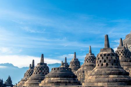ボロブドゥール寺院、ジョグ ジャカルタ、インドネシア ・ ジャワ島。