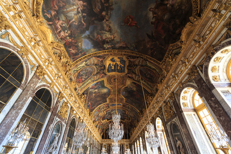 VERSAILLES FRANCE - JUNE 20 Interior Chateau of Versailles, Versailles, France on june 20, 2014. Palace Versailles was a Royal Chateau-most beautiful palace in France and word.