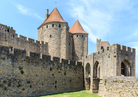 roussillon: Castle of Carcassonne, Languedoc Roussillon, France Editorial
