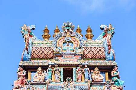 mariamman: Detail of Sri Mariamman temple in Singapore Stock Photo