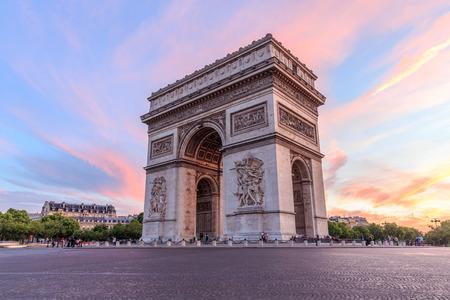 Arc de Triomphe Paris city at sunset - Arch of Triumph