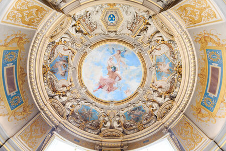 chantilly: CHANTILLY,FRANCE - JUNE 19, 2014 : Interior of  Chateau de Chantilly , France on june 19, 2014. it is a historic chateau located in town of Chantilly, Oise, Picardie, France. Editorial