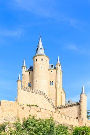 segovia: The famous Alcazar of Segovia, Castilla y Leon, Spain Editorial