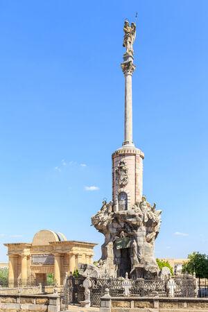 san rafael: Square of Triumph of San Rafael in Cordoba Spain Stock Photo