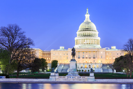The United States Capitol building in Washington DC, USA