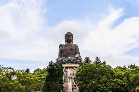 lantau: Giant Buddha,Po Lin Monastery in Hong Kong, Lantau Island Editorial