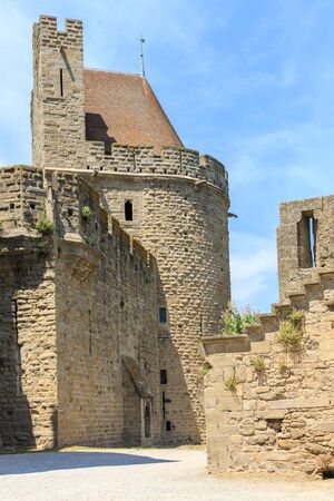 roussillon: Castle of Carcassonne, Languedoc Roussillon, France Editorial