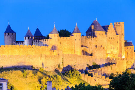 fortify: Castle of Carcassonne, Languedoc Roussillon, France Editorial