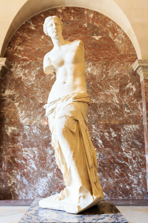 PARIS, FRANCE - JULY 24: The Venus de Milo statue July 24, 2011 in Paris. Louvre the Venus de Milo statue it