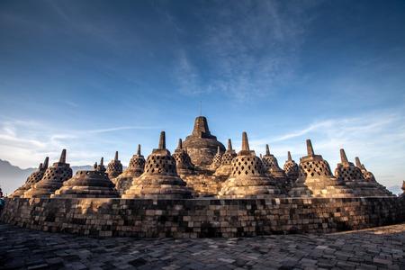 Borobudur Temple.Blue sky Yogyakarta, Java, Indonesia