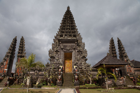Entrance of temple in Bali,Indonisia.