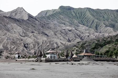 tengger: Pura Luhur Poten temple. Sea of sand, Tengger massif, East Java, Indonesia