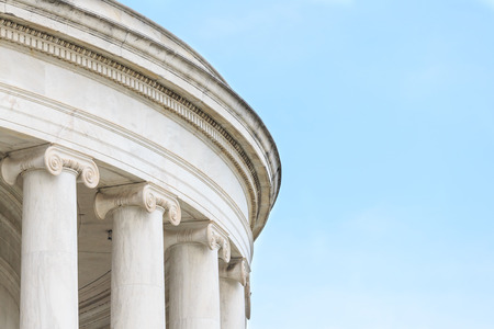 ionic: Ionic Columns at Jefferson Memorial in Washington DC